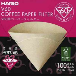 100 filtres V60 1-4 tasses